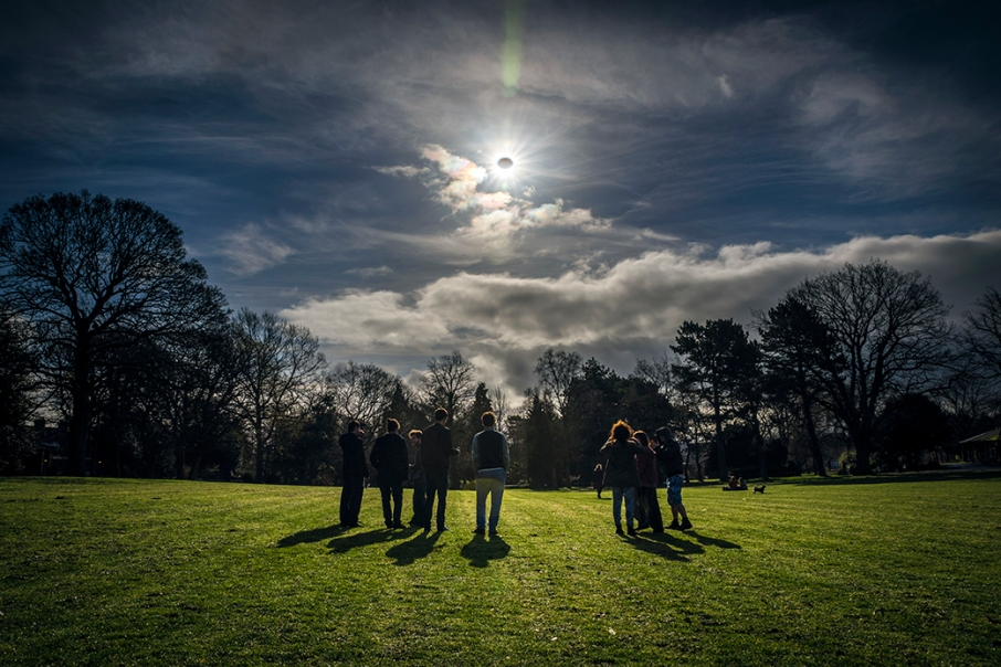 Eclipse Botanic Gardens Belfast 20-03-2015